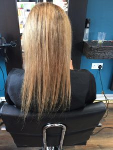 Before Tape-in Hair Extensions